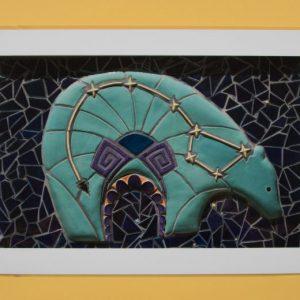 photo of the mosaic mural Cuentos de las Estrellas (Stories of the Stars), Summer 2010 (detail)