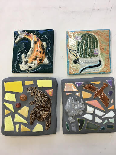 Group of personal mosaic projects.